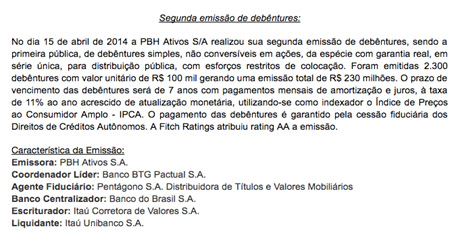 pbh-debentures